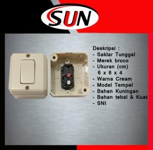 Harga saklar tunggal 1 pencetan lampu ob broco new gee cream tempel | HARGALOKA.COM