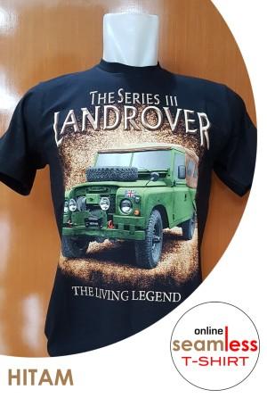 Harga landrover ts 3 kaos katun sablon otomotif cotton combed | HARGALOKA.COM