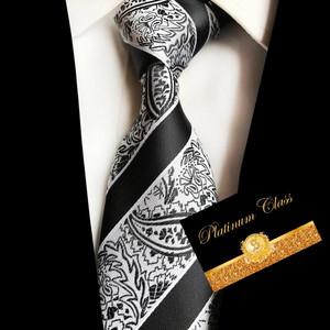 Harga dasi batik salur import hitam putih platinum | HARGALOKA.COM