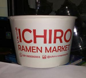 Harga paper bowl 500ml lidflat plus cetak logo | HARGALOKA.COM
