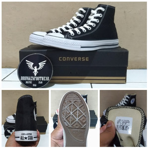 Harga sepatu converse all star high black white   original premium   | HARGALOKA.COM