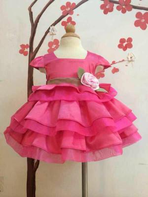 Harga dress sara bunga susun import baju pesta anak   sz 1t 6t | HARGALOKA.COM