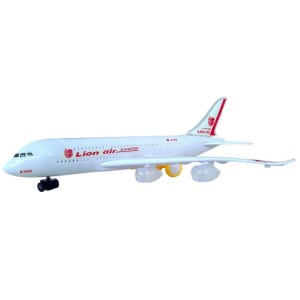 Harga mainan pesawat miniatur lion air besar mainan replika pesawat | HARGALOKA.COM