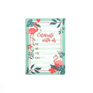Harga kartu udangan birthday party invitation card   flamingo | HARGALOKA.COM