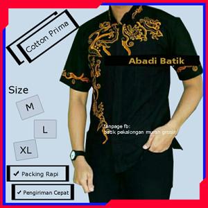 Harga baju batik kombinasi pria batik pekalongan untuk anak | HARGALOKA.COM