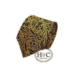 Harga dasi neck tie motif wedding best man gold black list batik tie   cokelat 2 | HARGALOKA.COM