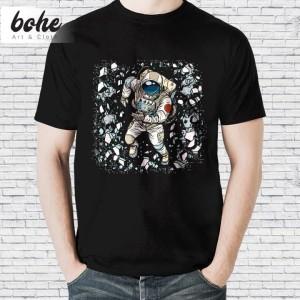 Harga baju kaos distro animal karakter keren pria unisex astronot keren   putih | HARGALOKA.COM