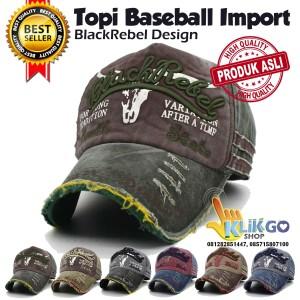 Harga topi baseball import blackrebel snapback caps topi distro | HARGALOKA.COM