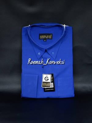 Harga kemeja pria geoland lengan panjang warna biru | HARGALOKA.COM