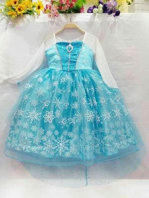 Harga dress baju kostum gaun princess frozen elsa 09   rok motif   size   HARGALOKA.COM