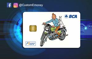 Harga kartu bca flazz custom design e toll tintin classic   bca   HARGALOKA.COM