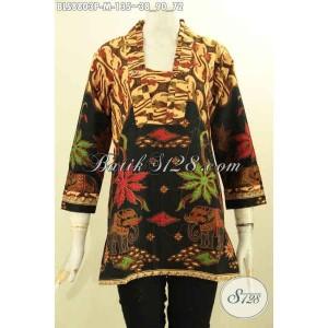 Harga blouse batik kutubaru wanita lengan 7 8 model mewah size m | HARGALOKA.COM