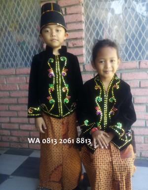 Harga baju adat jawa kostum anak daerah jawa tengah karnaval pawai | HARGALOKA.COM