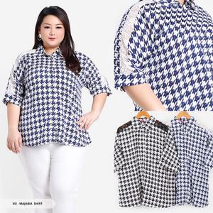 Harga atasan kemeja wanita casual bigsize woman shirt big size xxl xxxl | HARGALOKA.COM