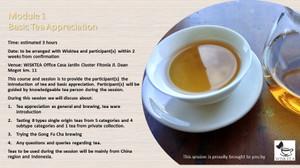 Harga ticket for module 1 basic tea appreciation private session | HARGALOKA.COM