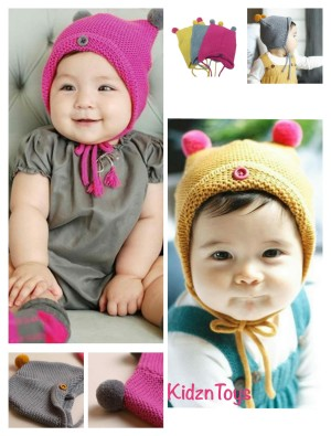 Harga topi kupluk rajut imut anak bayi wool kids | HARGALOKA.COM