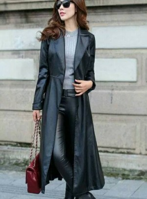 Harga jaket kulit wanita panjang domba asli jas blazer bawah lutut | HARGALOKA.COM