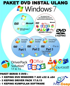 Harga paket dvd instal ulang windows 7 pc laptop | HARGALOKA.COM