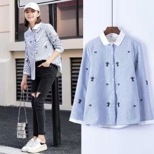 Harga 039541 baju kemeja cewek jepang lucu cute ginger biscuit shirt | HARGALOKA.COM