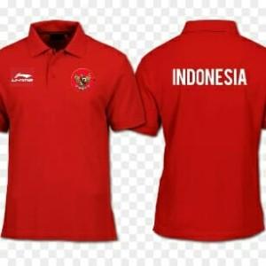 Harga polo kaos baju polo timnas indonesia lining li ning asian | HARGALOKA.COM