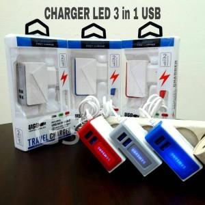 Harga charger led 3 in 1 usb | HARGALOKA.COM
