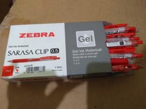 Harga zebra sarasa clip japan 0 5 gel ink rollerball pulpen gel merah | HARGALOKA.COM