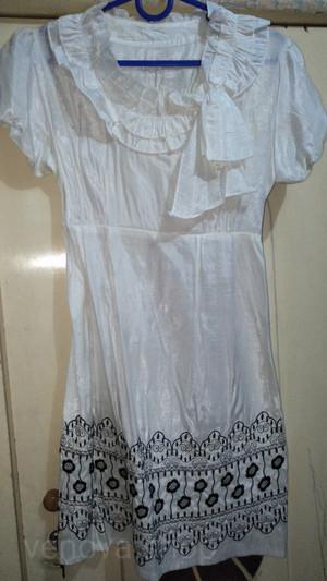 Harga baju wanita midi dress atasan pesta kerah renda   | HARGALOKA.COM