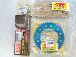 Harga gear set sss yamaha r25 aluminum blue gearset r25 girset r25 | HARGALOKA.COM