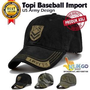 Harga topi baseball import us army snapback caps topi distro | HARGALOKA.COM