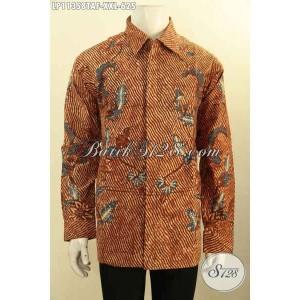 Harga baju batik premium pria gemuk tulis furing elegan size xxl   HARGALOKA.COM