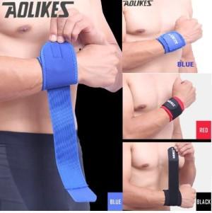 Harga support brace wristband aolikes original wrist strap gym deker tangan     HARGALOKA.COM