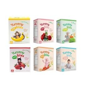 Harga yummy bites rice crackers biskuit bayi 25 gr snack baby mini 25gr   | HARGALOKA.COM