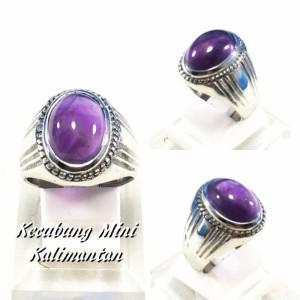 Harga cincin batu akik natural kecubung ungu mini pangkalan bun kalimantan     HARGALOKA.COM