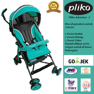 Harga stroller kereta dorong bayi pliko adventure 2   warna grass | HARGALOKA.COM