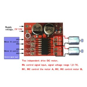 Harga 1 5a 2 channel dc motor driver module circuit pwm speed control   HARGALOKA.COM