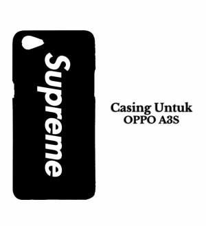 Harga casing hp oppo a3s supreme logo hardcase custom case | HARGALOKA.COM