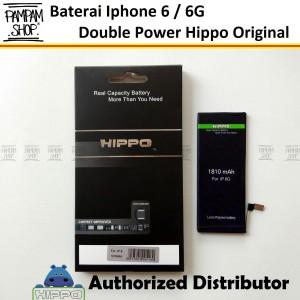 Harga baterai hippo double power original apple iphone 6 6g batre batrai | HARGALOKA.COM