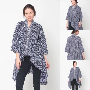 Harga baju blouse atasan batik wanita modern nona rara elena blouse t0239   sesuai gambar all | HARGALOKA.COM