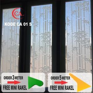 Harga stiker kaca motif bambu terlaris lebar 90 untuk pintu jendela | HARGALOKA.COM