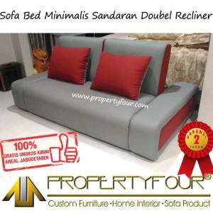 Harga sofa bed sofabed minimalis sandaran double   HARGALOKA.COM