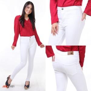 Harga celana panjang highwaist jeans wanita denim pensil jsk   hitam | HARGALOKA.COM