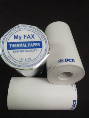 Harga kertas kasir thermal roll logo bank bca ukuran | HARGALOKA.COM