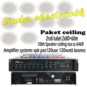 Harga paket speaker ceiling toa zs 646r amplifier systems vpk | HARGALOKA.COM