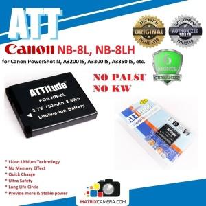 Harga att battery canon nb 8lh  8l baterai batere for powershot n a3200 | HARGALOKA.COM