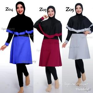 Harga baju renang muslimah dewasa baju renang wanita syari jilbab panjang   z03 | HARGALOKA.COM