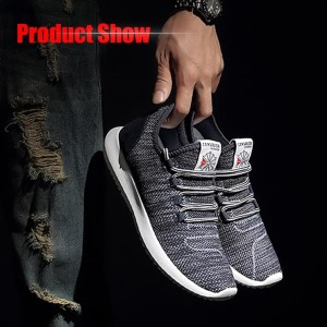 Harga sepatu kets sneakers impor pria ukuran 40   45 kualitas oke   hitam | HARGALOKA.COM