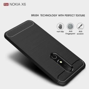 Harga case ipaky carbon fiber nokia 6 1 plus x6 softcase shockproof | HARGALOKA.COM