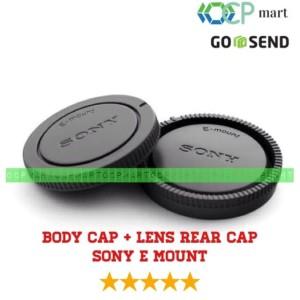 Harga body cap amp lens rear cap cover sony nex alpha e mount tutup body   HARGALOKA.COM