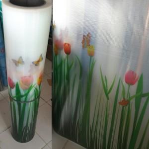 Harga fiber viber penutup pagar plastik motif tulip tebal uv   HARGALOKA.COM