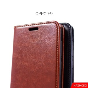 Harga oppo f9 flip cover wallet leather case classic style   | HARGALOKA.COM